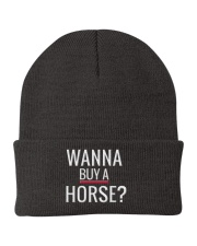 Wanna buy a horse Knit Beanie front
