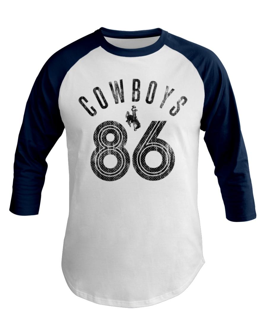 Cowboy 86 Saddle Bronc Premium Baseball Tee