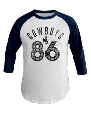 Cowboy 86 Saddle Bronc Premium Baseball Tee front
