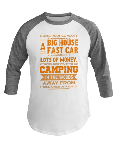 Happy Camping Baseball Tee Camping Prefer
