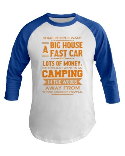 Happy Camping Baseball Tee Camping Prefer