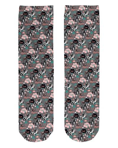 doodle cat socks