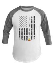 American Flag Camping Shirt Baseball Tee front
