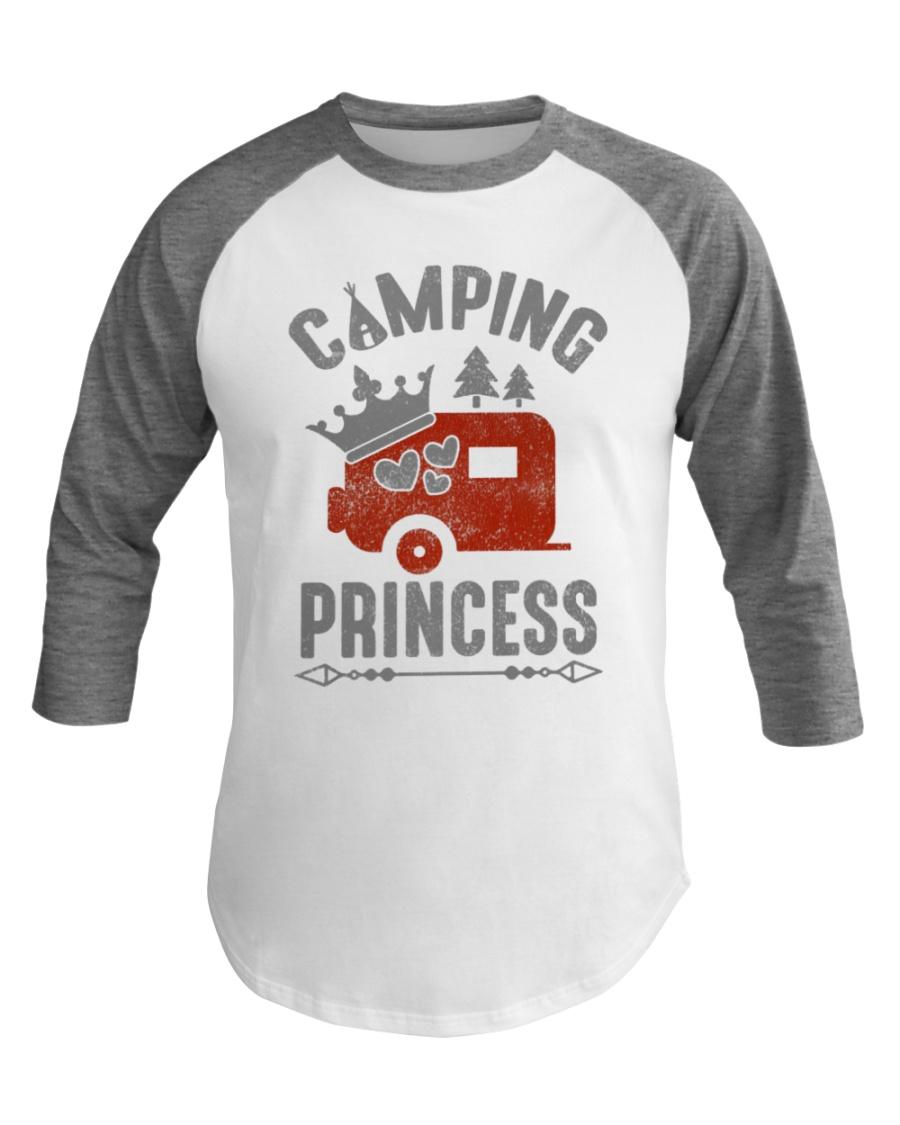Camping Baseball Tee Princess Cute Distressed Baseball Tee