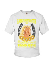 Easily Distracted By Horses and Sunflower Youth T-Shirt thumbnail