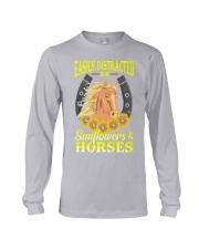 Easily Distracted By Horses and Sunflower Long Sleeve Tee thumbnail