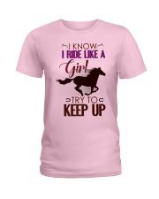 Horseback Riding Horse Lovers Cute  Ladies T-Shirt thumbnail