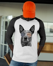 Cattle Dog Australian with USA flag sunglasses Baseball Tee apparel-baseball-tee-lifestyle-09