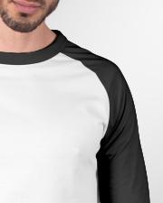 Cattle Dog Australian with USA flag sunglasses Baseball Tee garment-baseball-tee-detail-front-neck-01