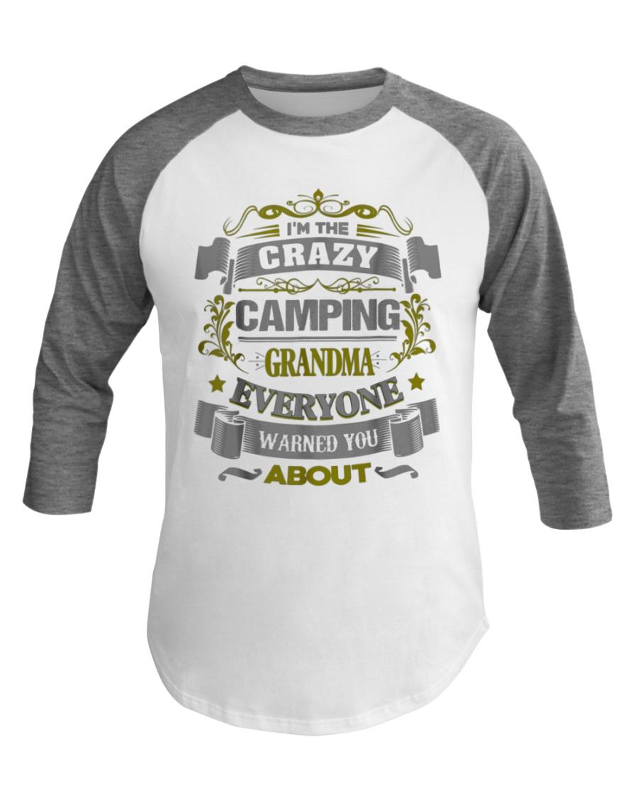 Cool Camping Grandma Baseball Tee