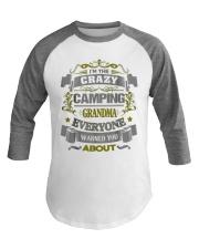 Cool Camping Grandma Baseball Tee front