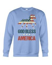 God Bless America Horse American Flag Crewneck Sweatshirt thumbnail
