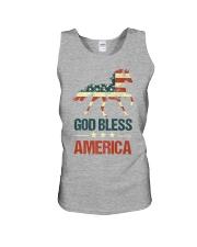 God Bless America Horse American Flag Unisex Tank thumbnail