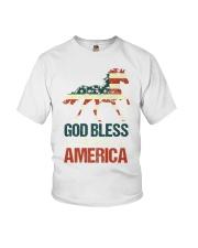 God Bless America Horse American Flag Youth T-Shirt thumbnail
