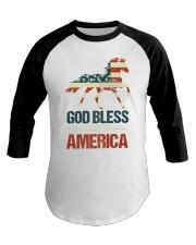 God Bless America Horse American Flag Baseball Tee thumbnail