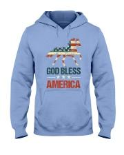 God Bless America Horse American Flag Hooded Sweatshirt thumbnail