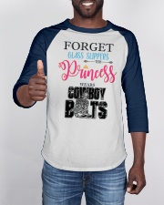 Forget Glass Slippers wear Cowboy Boots Baseball Tee apparel-baseball-tee-lifestyle-08