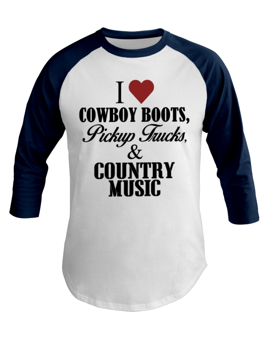 Country Girl Loves Country Music Baseball Tee