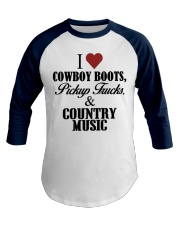 Country Girl Loves Country Music Baseball Tee front
