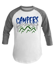 Campers Gonna Camp Baseball Tee front