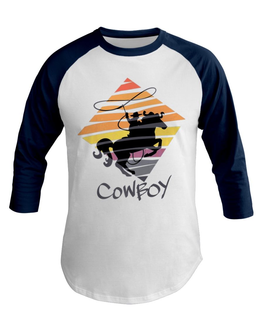 Cowboy Rodeo Horse Lovers Funny Premium Baseball Tee