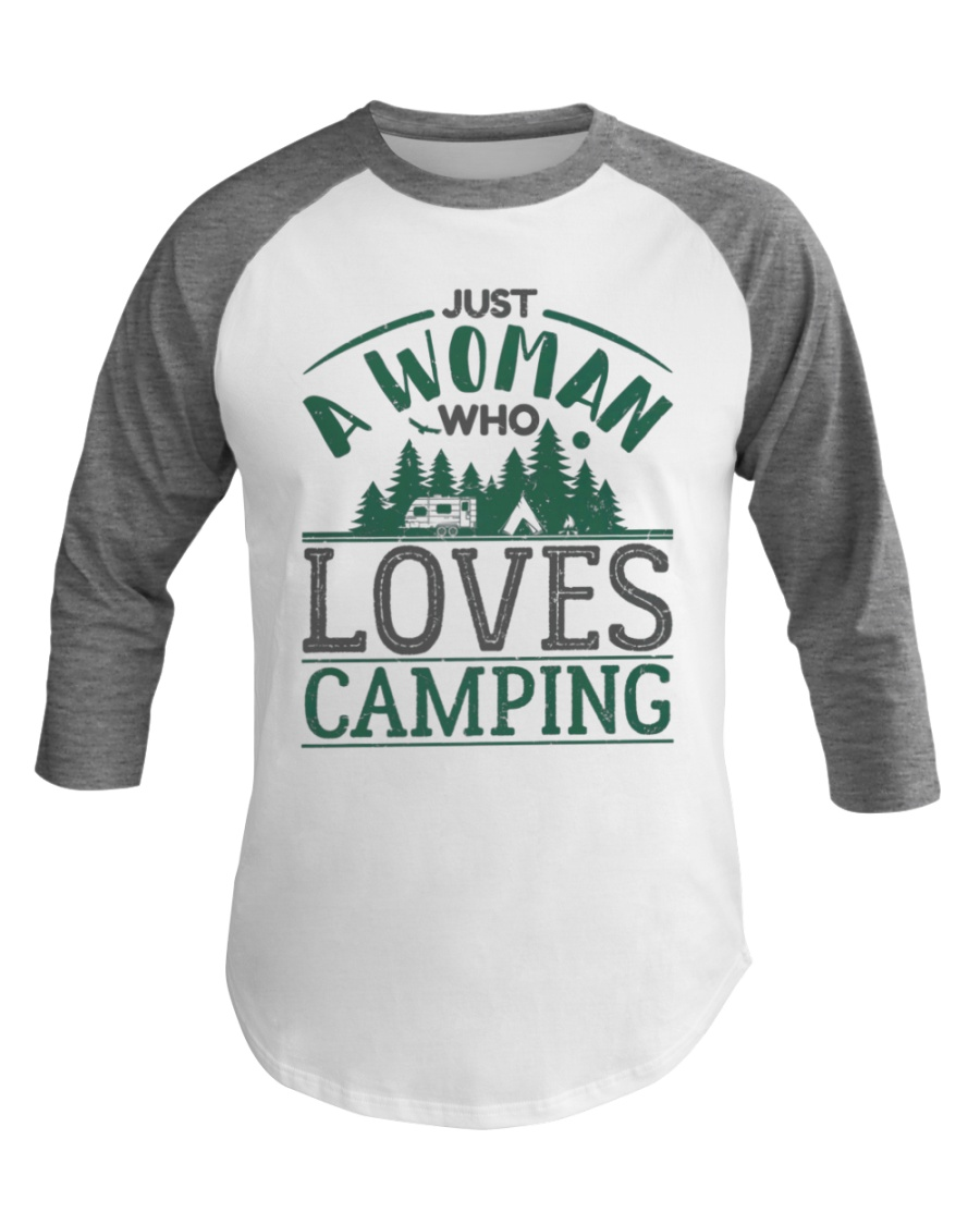 Camping Baseball Tee For Women Camper Gifts Tent Baseball Tee