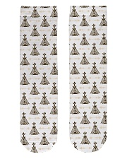 wigwam with arrows native American tent Crew Length Socks front