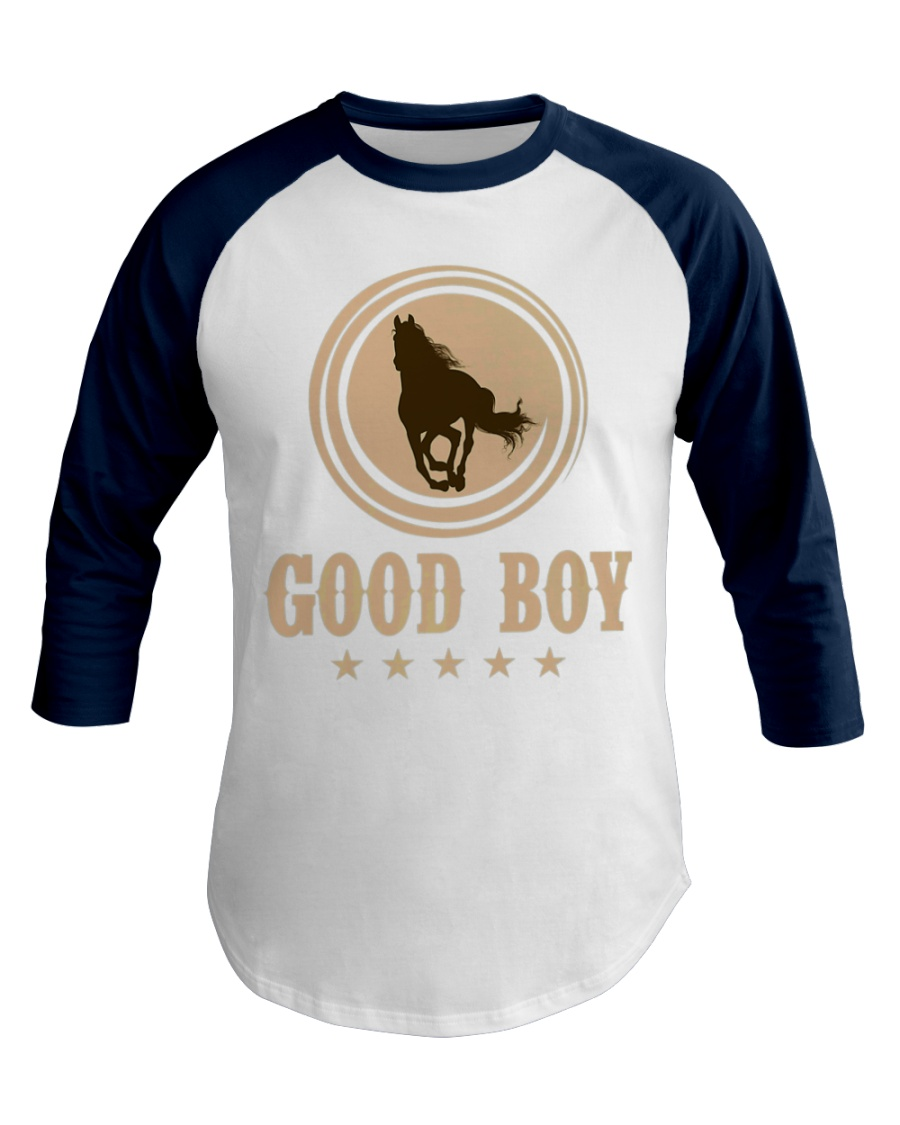Good Boy Horse Lovers Funny Cowboy Gaming Premium Baseball Tee