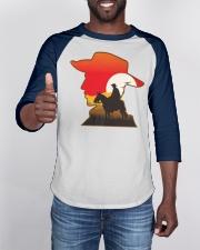 Funny Gamer Cowboy Design Gift Baseball Tee apparel-baseball-tee-lifestyle-08