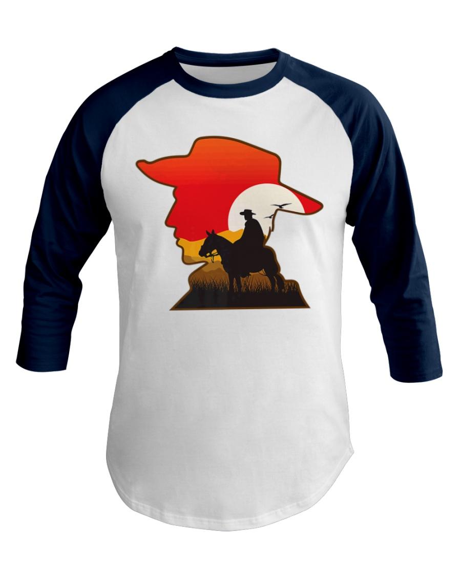 Funny Gamer Cowboy Design Gift Baseball Tee
