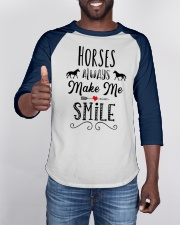 HORSES ALWAYS MAKE ME SMILE Baseball Tee apparel-baseball-tee-lifestyle-08