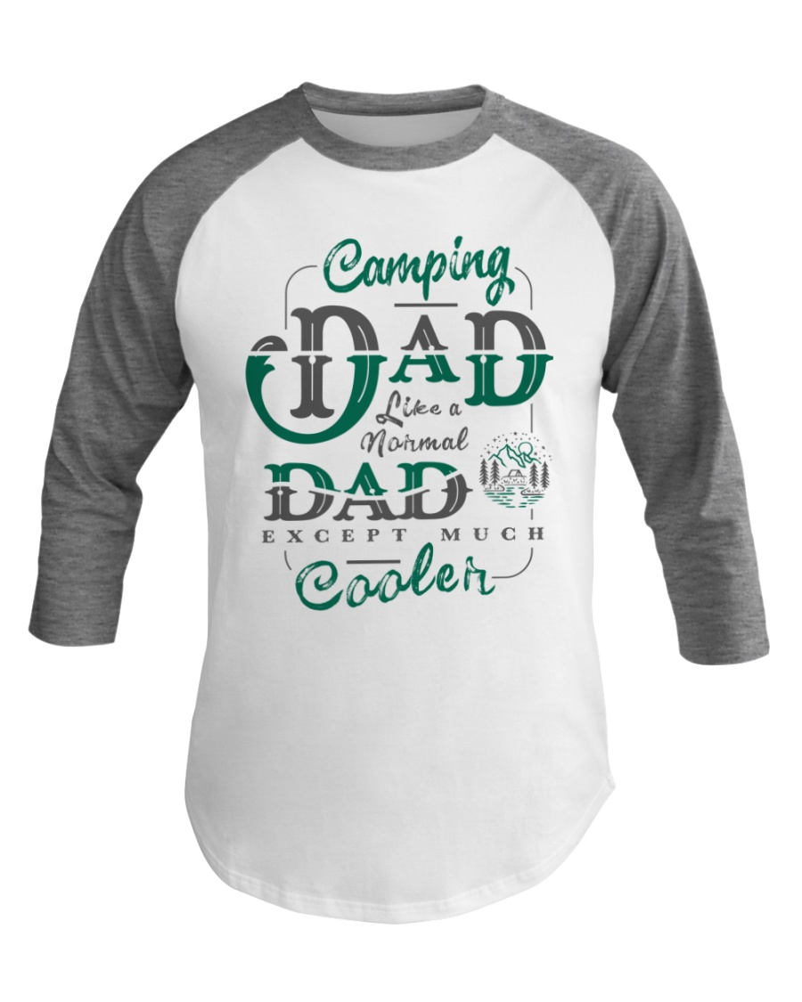 Camping Dad Gifts For Daddy Father Day Camper Baseball Tee