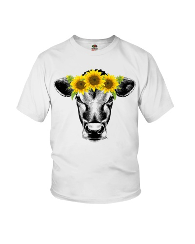 Awesome Cow with sunflower Designs