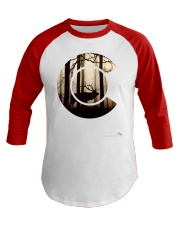 Colorado Flag Logo Elk Hunting Men Baseball Tee front