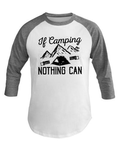Funny Camping Baseball Tee Mountain Camping