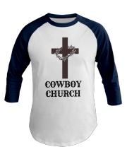 Cowboy Church Baseball Tee front