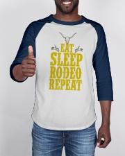 Eat Sleep Rodeo Repeat Funny Western for Cowboys Baseball Tee apparel-baseball-tee-lifestyle-08