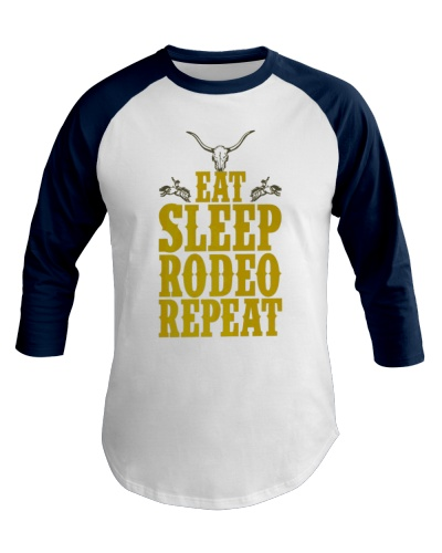 Eat Sleep Rodeo Repeat Funny Western for Cowboys