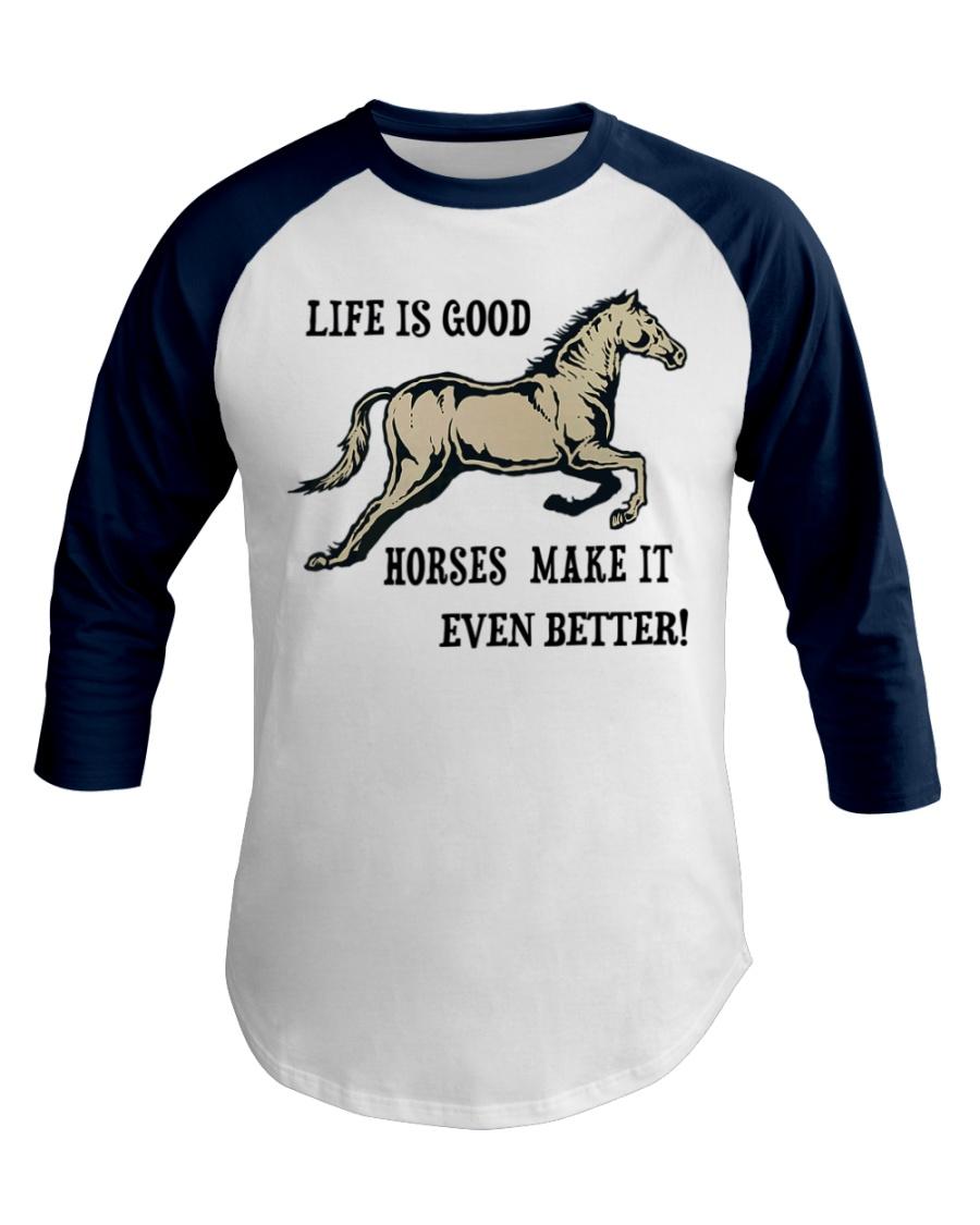 Horseback riding Racing Hobby Cowboy  Baseball Tee