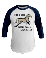 Horseback riding Racing Hobby Cowboy  Baseball Tee front