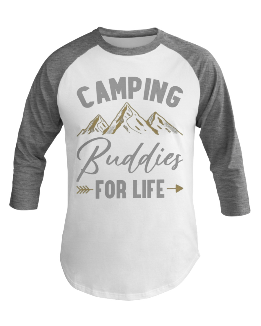 Camping Buddies for Life Camping Baseball Tee