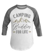 Camping Buddies for Life Camping Baseball Tee front