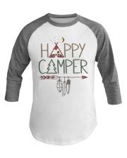 Happy Camping Camper Baseball Tee front