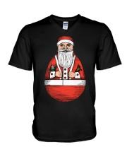 ROLLY-POLLY SANTA V-Neck T-Shirt thumbnail