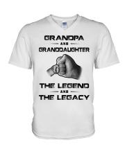 Grandpa - Granddaughter V-Neck T-Shirt thumbnail