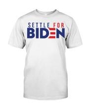 Settle For Biden Shirt Premium Fit Mens Tee front