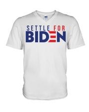 Settle For Biden Shirt V-Neck T-Shirt thumbnail
