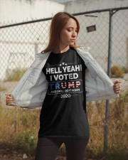 Hell Yeah I Voted For Trump 2020 T Shirts Classic T-Shirt apparel-classic-tshirt-lifestyle-07