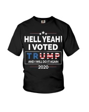 Hell Yeah I Voted For Trump 2020 T Shirts Youth T-Shirt thumbnail