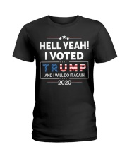 Hell Yeah I Voted For Trump 2020 T Shirts Ladies T-Shirt thumbnail